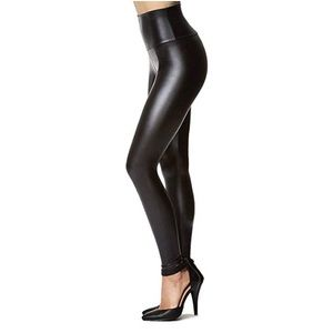 Pants - Faux leather leggings, high waisted large
